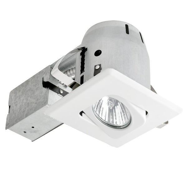 Globe Electric 90038 1 Light Recessed Lighting Kit Includes Trim, Housing / Can, Patented Clip System and Electrical Box - White
