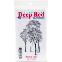 Deep Red Stamps Winter Trees Rubber Cling Stamp - 2 x 3.2
