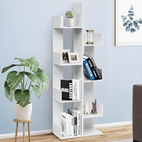 Stable 8 -Tier Display Standing Book Shelf for Living Room/Home/Office