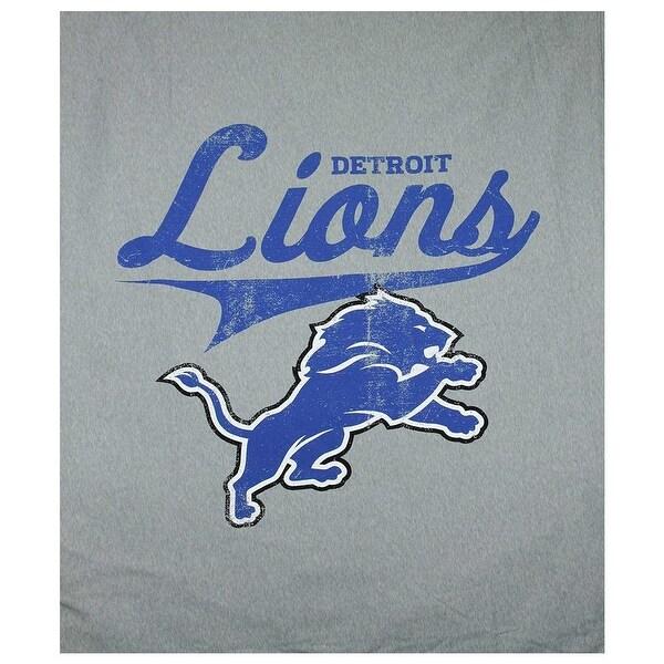 """The Northwest NFL Detroit Lions Sweatshirt Throw 50""""x60"""" Blanket"""