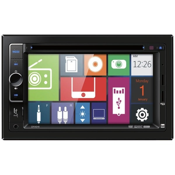 "Dual Dv604I 6.2"" Double-Din In-Dash Dvd Receiver With Ipod(R) Control"