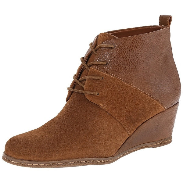 Franco Sarto Womens Albi Leather Almond Toe Ankle Fashion Boots