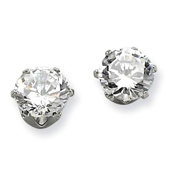 Chisel Stainless Steel 7mm CZ Stud Earrings
