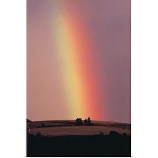 """""""Rainbow in a sunset sky"""" Poster Print"""