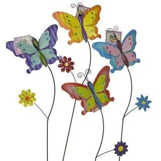 Deluxe Butterfly Metal Garden Art Stake - 36 Units