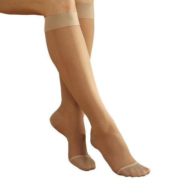 Women's Full Calf Firm Compression Sheer Knee High Therapeutic Stockings
