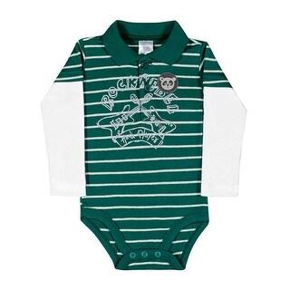 Baby Boy Bodysuit Long Sleeve Newborn Infant Polo Jumper Pulla Bulla 3-12 Months (3 options available)