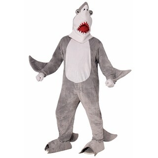 Plush Chomper the Shark Adult Costume One Size Fits Most - gray