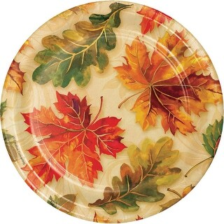 """Pack of 144 Brown and Orange Fall Flourish Themed Luncheon Plate 6.8"""""""