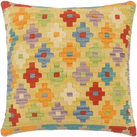 Bohemian Turkish Cahill Hand Woven Kilim Pillow