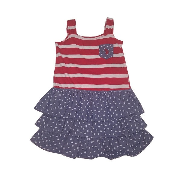 6fda280a9f Shop American Character Little Girls Red White Blue Sleeveless Summer Dress  - Free Shipping On Orders Over  45 - Overstock - 21130313
