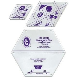 Perfect Patchwork Template-Set H - Large Hexagon Set 3/Pkg