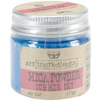 Finnabair Art Ingredients Mica Powder .6oz-Summer Sky