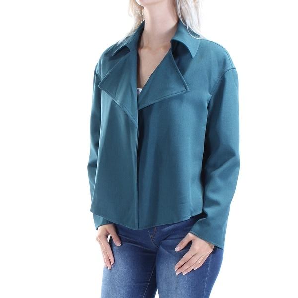ANNE KLEIN Womens Green Suit Wear To Work Jacket Size: 6
