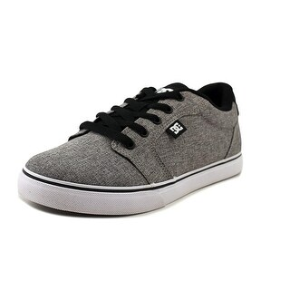 DC Shoes Anvil TX Youth Round Toe Canvas Gray Skate Shoe