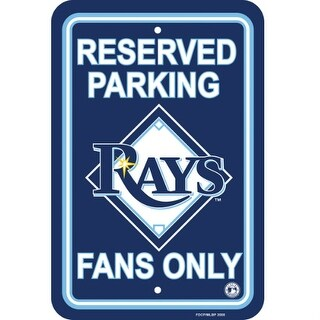 """Fremont Die Inc Tampa Bay Rays Plastic Parking Sign Parking Sign"""