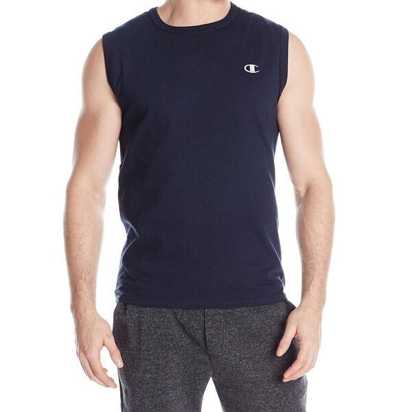 cda0d45c11fa0 Champion NEW Navy Blue Mens Size XL Crewneck Sleeveless Muscle Tee T-Shirt  170