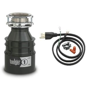 InSinkErator Badger 1 Badger 1/3 HP Garbage Disposal with Soundseal Technology