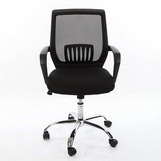 VECELO Ergonomically Adjustable Office Desk Chair , Mid Back Mesh Chair