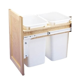 Rev-A-Shelf 4WCTM-18DM2-419-FL 4WCTM Top Mount Double Bin Trash Can for Frameles