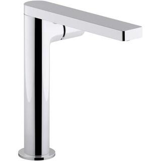 Kohler K-73159-7 Composed Single Hole Bathroom Faucet - Metal Pop-Up Drain Included (Option: Steel Finish)
