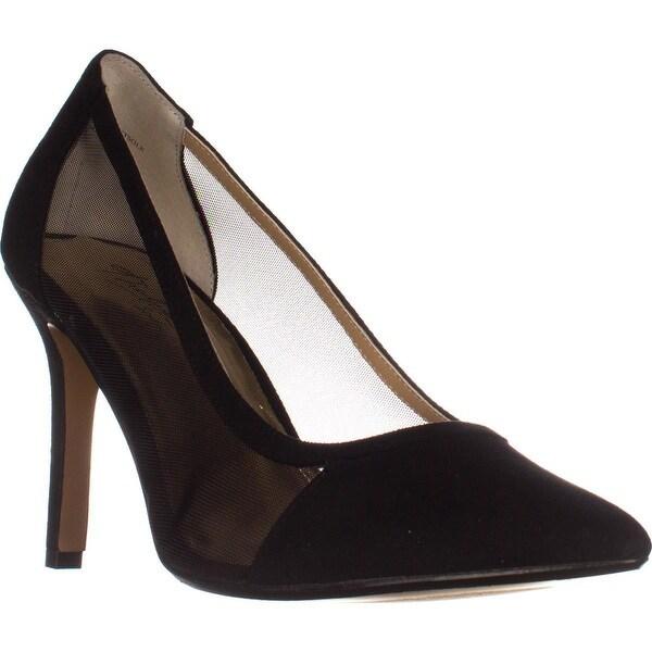 TS35 Natalia Pointed Toe Mesh Heels, Black