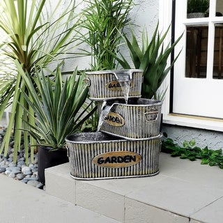 Link to Alpine Corporation 3-Tier Tin Outdoor Fountain, 20-Inches Similar Items in Outdoor Decor