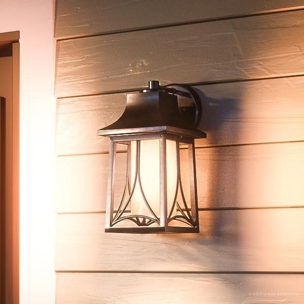 Luxury Asian Outdoor Wall Light 11 5 H X 6 W With Craftsman