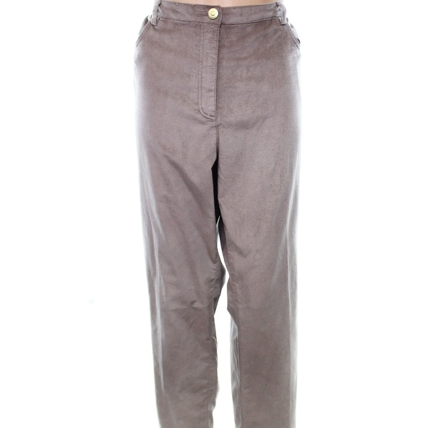 49f32af2ebb Shop ruby Rd. Corduroy Women s Straight-Leg Pants Stretch - Free Shipping  On Orders Over  45 - Overstock - 22342882