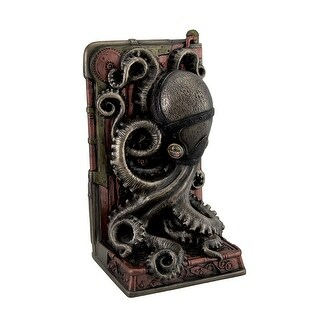 Steampunk Octopus Bronze Finished Single Bookend