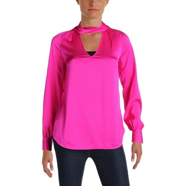 8ba02ec4cf670 Shop Trina Turk Womens Choker Top Keyhole Long Sleeves - Free ...