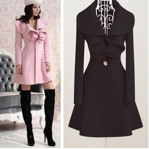 New fashion women overcoat jacket size:M-XXL