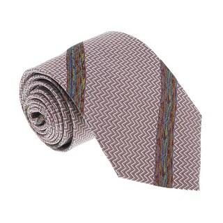 Missoni U4317 Pink/Silver Chevron 100% Silk Tie - 60-3