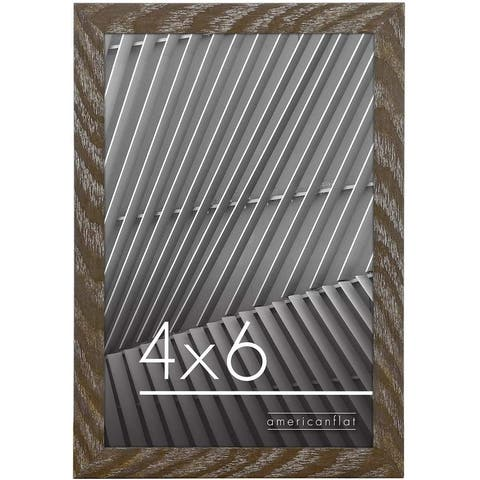 Americanflat Thin Picture Frame With Shatterproof Glass Horizontal and Vertical Formats for Wall and Tabletop