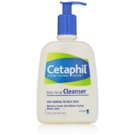 Cetaphil Daily Facial Cleanser Normal to Oily Skin, 16 oz