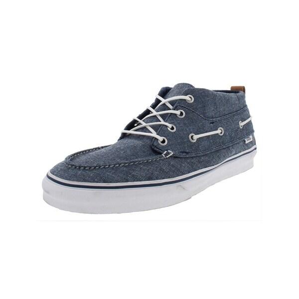 0e59f72e3a Vans Mens Chukka Del Barco Decon CA Casual Shoes Chambray Mid-Top - 12  Medium