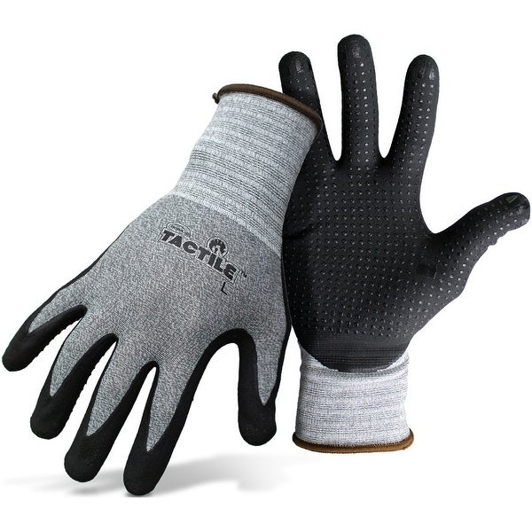 Boss 8445L Men's Nitrile Palm And Fingers Tactile Glove, Large