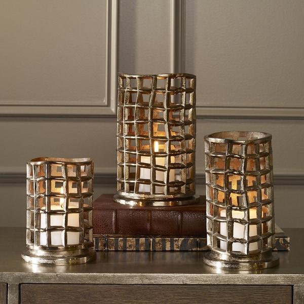 "22"" Bronze Kavya Nickel Cage Candleholders Set of 3 - N/A"
