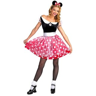 Minnie Mouse Adult Costume - Red