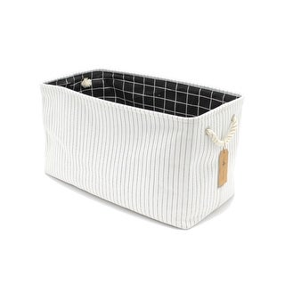 Link to The Curated Nomad Sani Handmade Canvas Storage Bin with Handles Similar Items in Laundry
