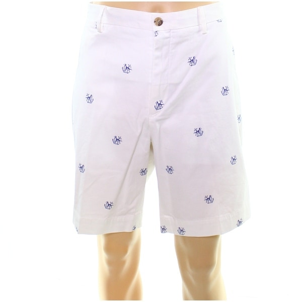 c9c61b4e1 Polo Ralph Lauren White Mens 36 Anchor Embroidered Chinos Shorts