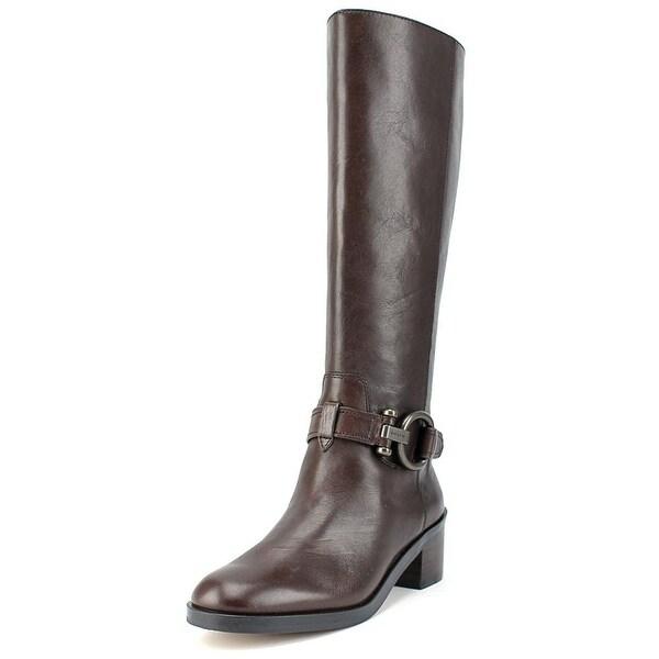 Coach Carolina Women Round Toe Leather Knee High Boot