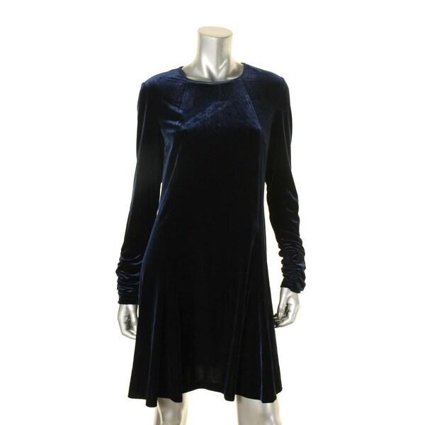 2c489f119e49 Shop Lauren Ralph Lauren Womens Semi-Formal Dress Ruched Sleeve Velvet -  Free Shipping Today - Overstock - 18543669