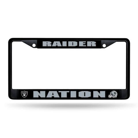 Las Vegas Raiders License Plate Frame Chrome Black Nation Design