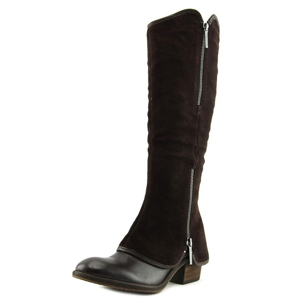 Donald J Pliner DEVI5-HVZW Round Toe Leather Over the Knee Boot