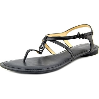MICHAEL Michael Kors Womens Bethany Leather Split Toe Casual T-Strap Sandals