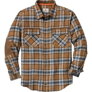 Legendary Whitetails Men's Back 40 Reinforced Flannel - barley fields plaid