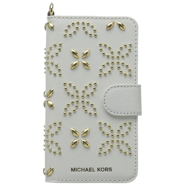 Michael Kors NEW White Studded Detail Folio Iphone 7 Cardholder Case