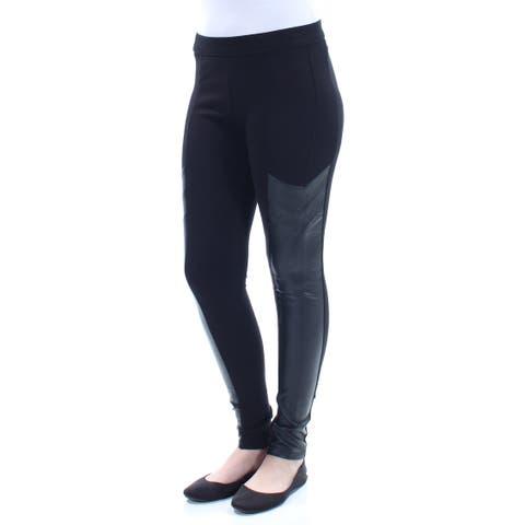 BAR III Womens Black Faux Leather Leggings Size: XS
