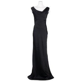 Maison Margiela Womens Black Sleeveless Silk Blend Long Dress